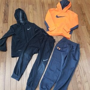 Nike Dri Fit under armour Boy 6 Lot sweatsuits